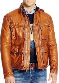 men s fashion jackets er jackets tan leather er jackets polo ralph lauren southbury leather bike jacket