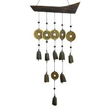 Oriental Furniture 22-in Metal Oriental Wind Chime