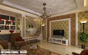 decorative-tray-ceiling-with-wooden-decorations-for-living-room.jpg  (1014764)   Ceiling design   Pinterest   Wall decorations, Ceilings and  Board
