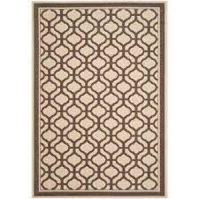 tangier cream chocolate 5 ft x 8 ft indoor outdoor area rug