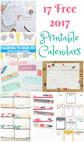printable calanders 17 free printable 2017 calendars the suburban mom