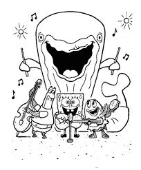 Spongebob En Zijn Vrienden Zingen En Spelen Op Muziek Instrumenten