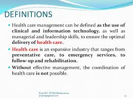An Introduction To Health Care Management