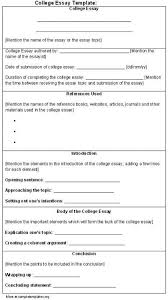 Example Of A College Essay College Essay Format Template Template Business
