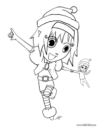Girl Elf Coloring Page At Getdrawingscom Free For Personal Use
