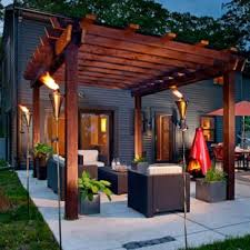patio designs. Inspiration For A Mid-sized Contemporary Backyard Concrete Patio Remodel In Milwaukee With Fire Designs