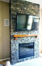 installing stacked stone veneer fireplace install stacked stone fireplace installing stone fireplace mantel veneer over brick