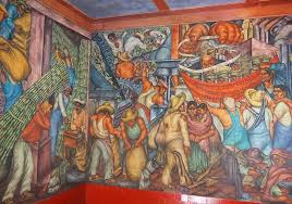 At this market are Mexico City's best murals, which almost no one visits