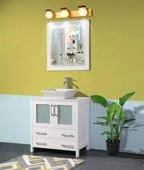 30 Inches Single Sink Small Bathroom Vanity Set 2 Drawers 1 Shelf Quar Homebeyond