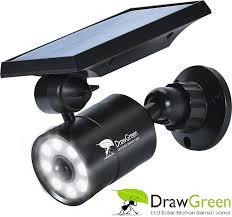 solar motion sensor light 1400 lumens bright led spotlight 5w(110w equiv ï¼ drawgreen solar lights outdoor wireless security lighting for porch patio