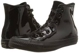 ideal converse womens chuck taylor hi patent leather trainers