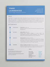 Resume Word Template Beauteous Minimal Resume Word Template