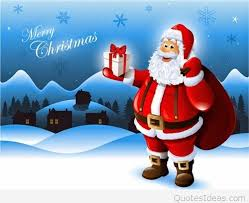 funny santa merry christmas quote messages