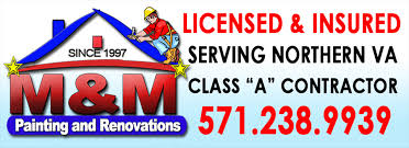 m m painting and renovations inc is your one stop for all your big or small home maintenance improvement needs serving the dmv metropolitan area