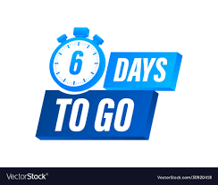 6 days to go countdown timer clock icon time icon Vector Image