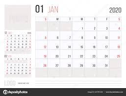 2020 2020 Weekly Planner Calendar 2020 Planner Corporate Template Design January Week
