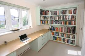 bespoke home office. Back To Bespoke Hand Painted Home Office / Library With Oak Desk, Bookshelves, Cupboards F