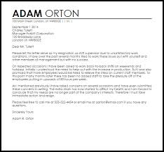 Sample Of Letter Of Resignation Awesome Resignation Letter Example Due To Unsatisfactory Work Circumstances