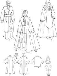 Star Wars Costume Patterns Best STAR WARS Jedi Sewing Pattern Obi Wan Anakin Skywalker Costume