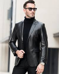 blazer coat for mens mens leather blazer jacket