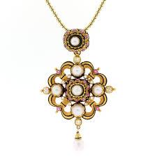 n571 1 nat pearl ruby gold enamel