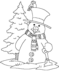 Small Picture Forest Snowman Print Coloring Pages For Kids Free Printable