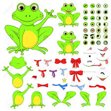 Parts Of A Frog Frogs Set Of Body Parts In Vector Eps 10 Royalty Free Cliparts