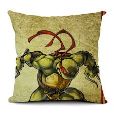 ... Ninja Turtle Cushion Cover American Animated Television Series Pillow  Case Home Art Decor Almofadas 18* ...