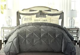 dark grey duvet cover set tahari pintuck ruched diamond dark grey 100 cotton duvet cover set