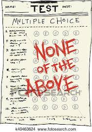 Multiple Choice Test Clipart