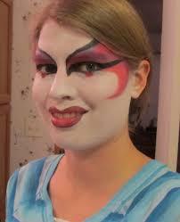 kabuki theater makeup. tonight, i finally had time to try my hand at theater makeup. chose do a geisha girl with kabuki flair. here\u0027s the result: makeup