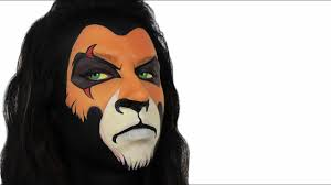 scar the lion king face painting