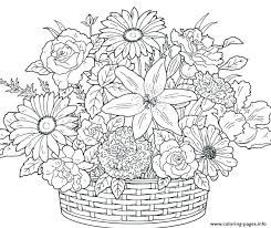 Flowers Coloring Pages For Adults Beautiful Flowers Coloring Pages