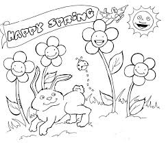 Springtime Coloring Pages Christmas Kindergarten Characters - Get ...