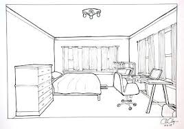 3d Bedroom Drawing Room Drawing Homework One Point Perspective Room