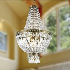 image chandelier lighting. empire 5light antique bronze finish with full lead crystal basket mini chandelier image lighting
