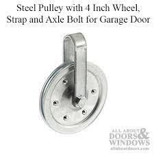 garage door pulley wheelPulley with 4 Inch Wheel Strap and Axle Bolt for Garage Door