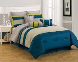 13 piece king carter blue and yellow bed in a bag w 600tc cotton sheet set