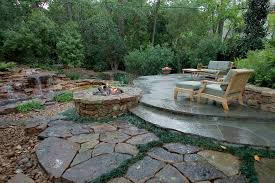 backyard raised patio ideas. Raised Patio Ideas Tropical With Planting Between Pavers Furniture Stacked Stone Wall Backyard T