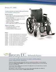 Standard Wheelchair Size Chart Breezy Ec