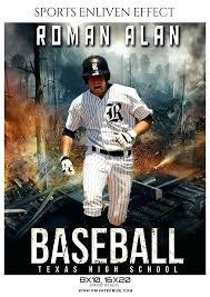 Baseball Brochure Template Roman Baseball Sports Enliven Effects Photography Template