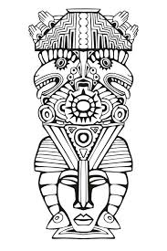 Mayan Coloring Pages Art Coloring Pages Adult Coloring Pages Mask 3