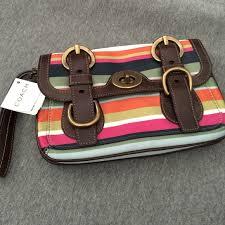 Authentic Coach wristlet Coach multicolor clutchAuthentic BRAND-NEW Coach  Bags Clutches   Wristlets