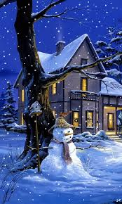 Snow Animated Download Animated 480x800 Christmas Night Cell Phone Wallpaper