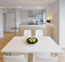 Small Square Kitchen Table Bathroom Catchy White Kitchen With Dim Lighting Also Modern