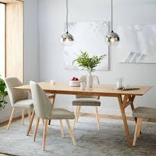 midcentury expandable dining table  oak  west elm au