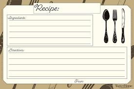 10 Beautiful Recipe Cards Free Printable Included Taste