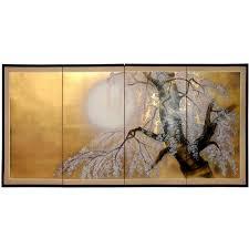 asian gold leaf wall art