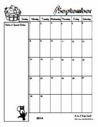 A To Z Kids Stuff Editable Blank Monthly Calendars