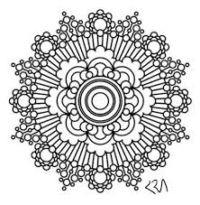 Small Picture Intricate Mandala Coloring Pages flower henna coloring book